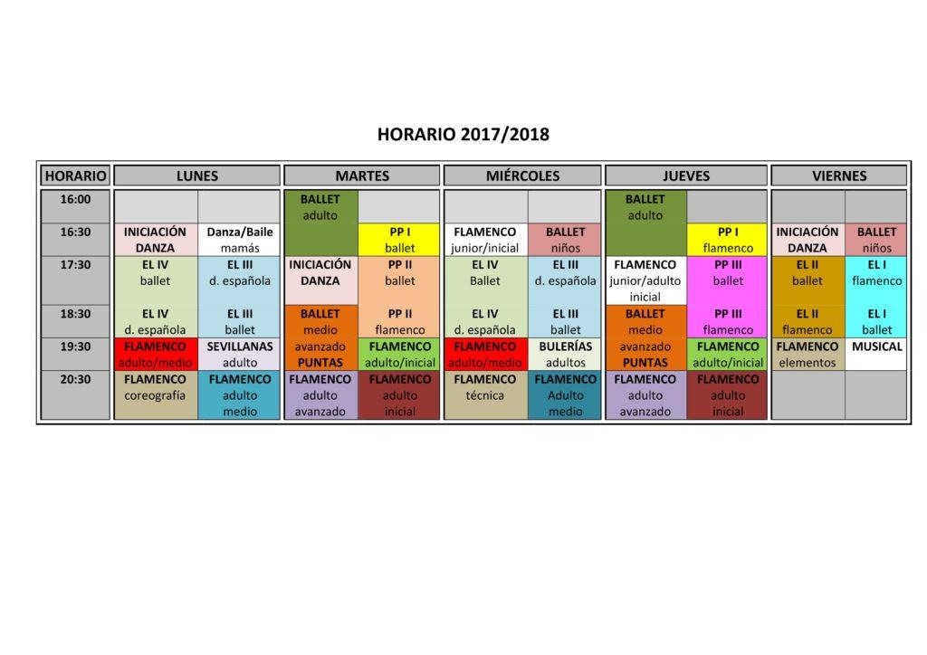 HORARIO 2017 2018